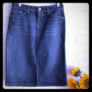 Blue jean skirt      7 for all man kind